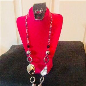 Paparazzi Chunky silver/black necklace